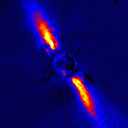 Beta Pictoris disk in the infrared.